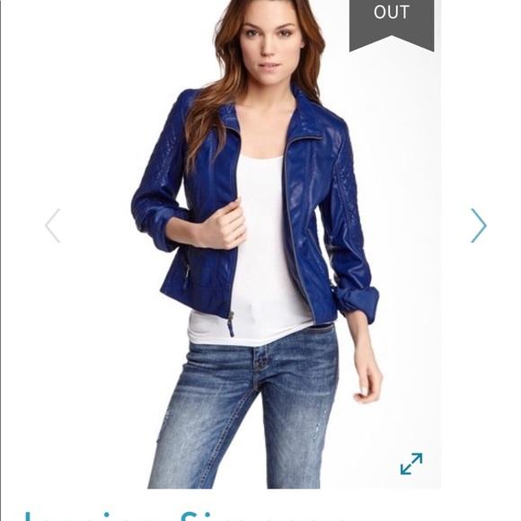 customers first wholesale online vast selection Royal Blue Jessica Simpson Vegan Leather Jacket!